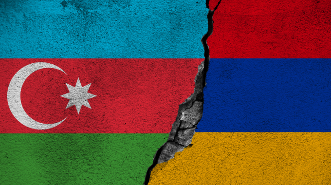 Azerbaijani and Armenian flags
