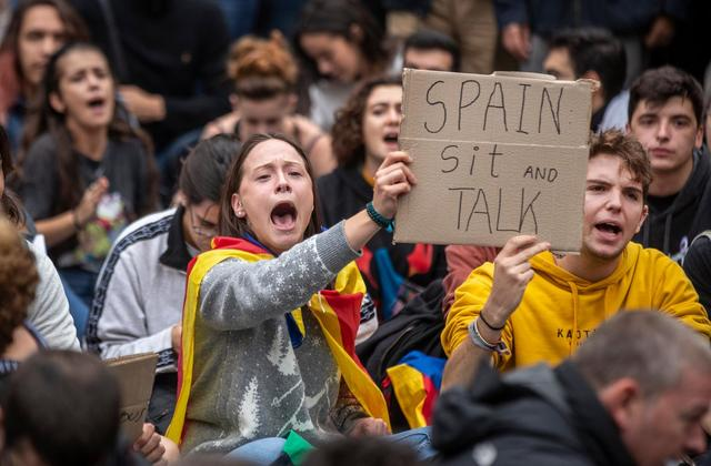 catalan protest