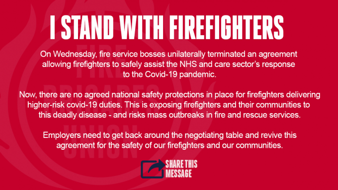 FBU solidarity graphic