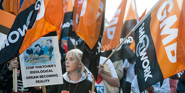 GMB on NHS demo