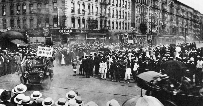 Parade during Harlem Renaissance