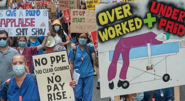 Health workers' protest