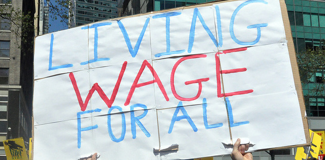 Living Wage sign