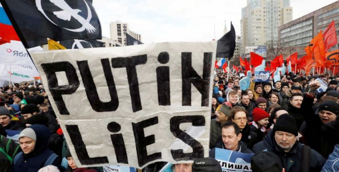 Demonstration in Russia
