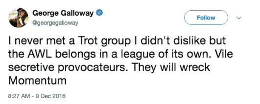 Galloway tweet