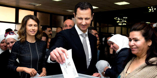 Bashar al-Assad votes