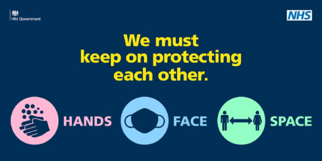 """Keep on protecting each other"" poster"