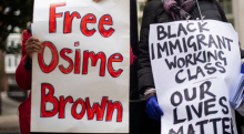 Free Osime Brown protest