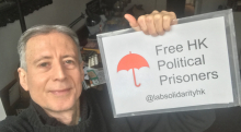 Peter Tatchell support HK activists