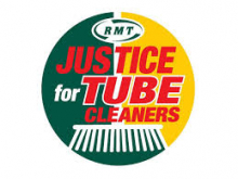 RMT Justice for Cleaners logo