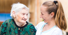 Care worker and service-user