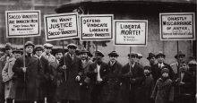 Sacco and Vanzetti protest