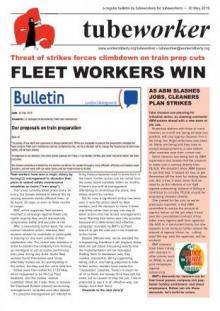 Tubeworker — 30/05/2019: Fleet Workers Win