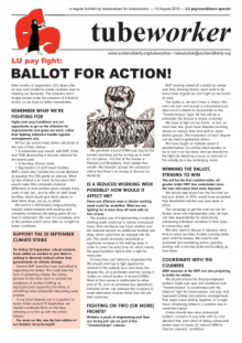 Tubeworker — 14/08/2019: Ballot For Action! (LU Pay/Conditions Special)