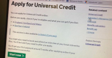 Universal Credit application