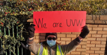 United Voices of the World picket