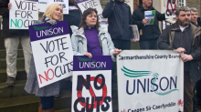 Unison anti-cuts protest