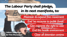 "Graphic with text ""Labour party shall pledge in its next manifesto..."""