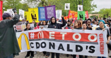 McDonald's workers protest against harassment