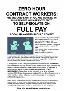 All those working in NHS facilities should know their rights