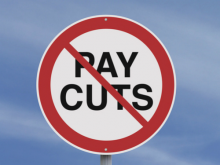 No pay cuts graphic