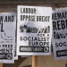 Anti-Brexit placards