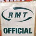 RMT official picket placard