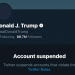 Trump's suspended Twitter account