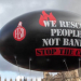 "FBU balloon, ""People not banks"""